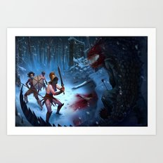 Den of the Ogrelion Art Print