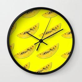yellow watermelon slices Wall Clock