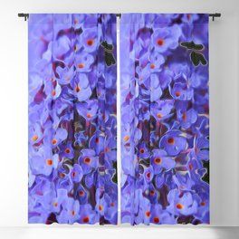 Butterfly Flower Blackout Curtain