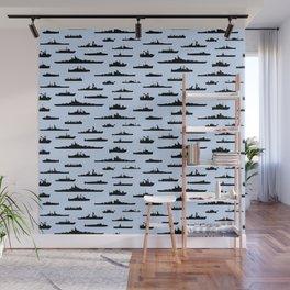Battleship // Light Blue Wall Mural