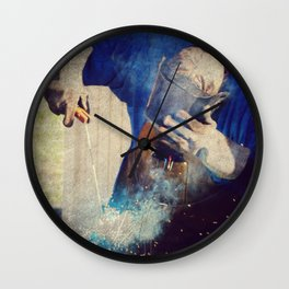 Welding Wall Clock