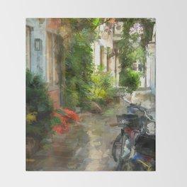 A neighborhood without cars - Bremen Schnoorviertel Throw Blanket