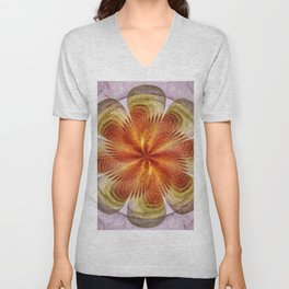 Senores Au Naturel Flower  ID:16165-061704-49220 Unisex V-Neck