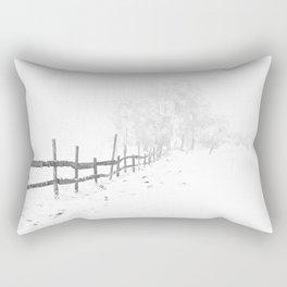 Fence and Snow Rectangular Pillow
