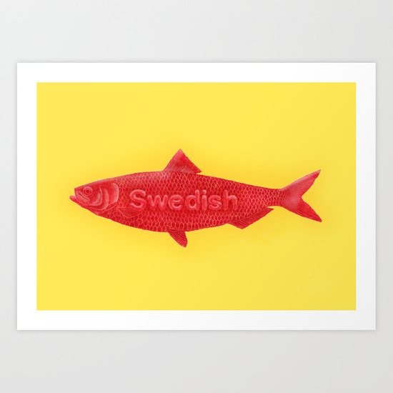 Swedish Fish Art Print