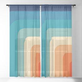 80s Vintage pattern Sheer Curtain