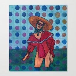 Sally at the Sea Shore Canvas Print