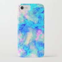 neon genesis evangelion iPhone & iPod Cases featuring Electrify Ice Blue by Amy Sia
