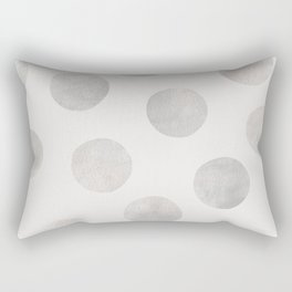 Silver Polka Dots Rectangular Pillow