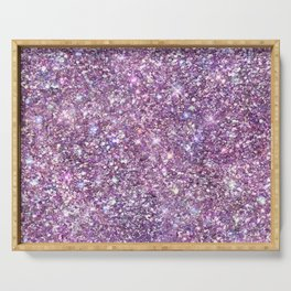 Amazing Rainbow Glitter Design Pattern Serving Tray