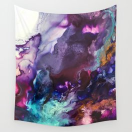 Expressive Flow 1 - Mixed Media Pain Wall Tapestry