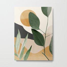 Abstract Art Tropical Leaves 8 Metal Print