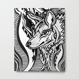 Sovereign Wolf Metal Print