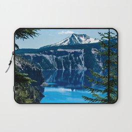 Crater Lake // Incredible National Park Views of the Dark Blue Waters Sky and Mountains through the Laptop Sleeve