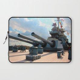Big Guns On Battleship Laptop Sleeve