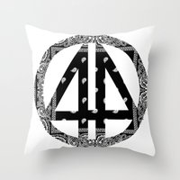 bands Throw Pillows featuring Floral bands by ART ON CLOTH