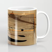 rowing Mugs featuring Rowing by Robin Curtiss