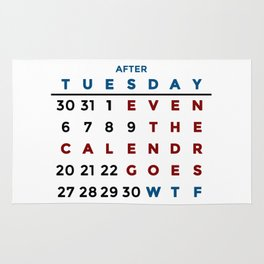 Calendar What The WTF Rug