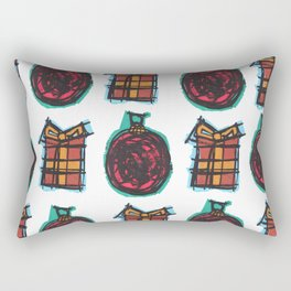 Christmas Ornaments Rectangular Pillow