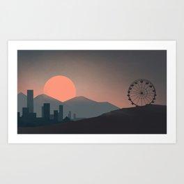 goodnight to a world  Art Print