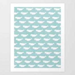 Turquoise beluga pattern Art Print