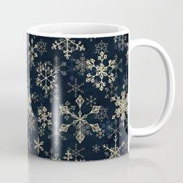 Snowflake Crystals in Gold Coffee Mug