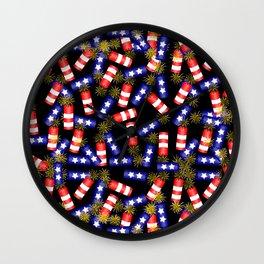 Firecracker Celebration Wall Clock