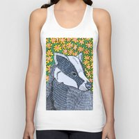 badger Tank Tops featuring Badger Badger Badger by Lorraine Stylianou