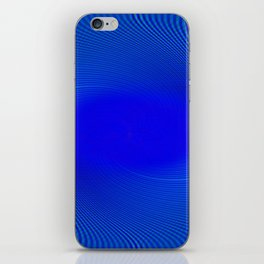 Electric Blue Swirl iPhone Skin