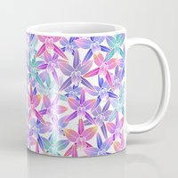 hawaiian Mugs featuring Hawaiian flowers by Marta Olga Klara