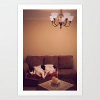 Dog in Luxury Art Print