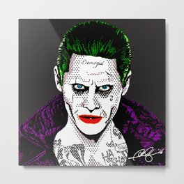 Pop Joker: Leto Metal Print