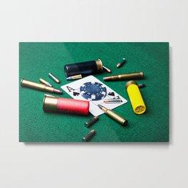 Risky gambling Metal Print