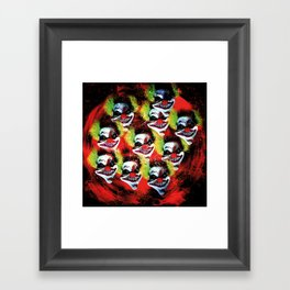 Halloween Horrorclown Collage Framed Art Print