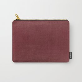 Leather dark red BEAUTY Carry-All Pouch