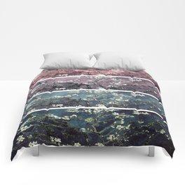 Vincent Van Gogh : Almond Blossoms Panel aRt Dark Pink Eggplant Teal Comforters