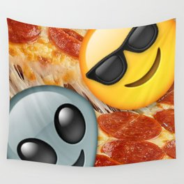 Pizza Lovers Emoji Wall Tapestry