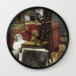 Charles Van Den Eycken - Chaos In The Studio Wall Clock