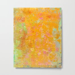 Delight, Marbled Abstract Art Painting Metal Print