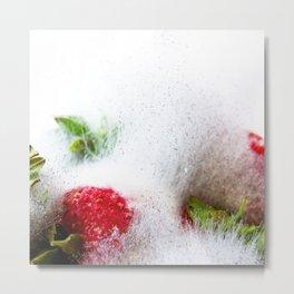 Strawberries in Focus Metal Print