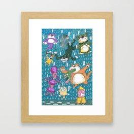 Raining Cats & Dogs Framed Art Print
