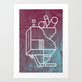 No 3 Art Print
