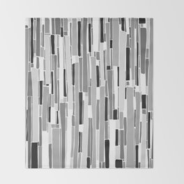 Stacked BW Throw Blanket