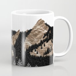 Flatirons Boulder Colorado - Climbing Gold Mountains Coffee Mug