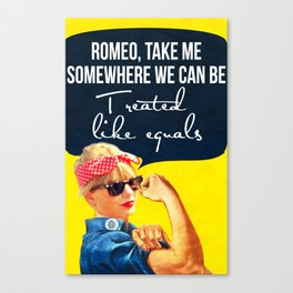 Romeo, take me Canvas Print
