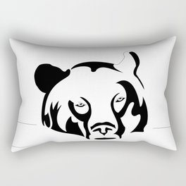 Lazy Grizzly Rectangular Pillow