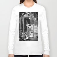 trumpet Long Sleeve T-shirts featuring Jazz Trumpet by cinema4design