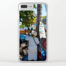 Little Business on the Beach Clear iPhone Case