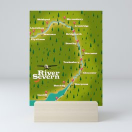 River Severn England Wales travel poster Mini Art Print