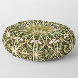 Geometric Forest Mandala Floor Pillow